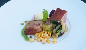 Épaule d'agneau au foin, saveurs barbecue