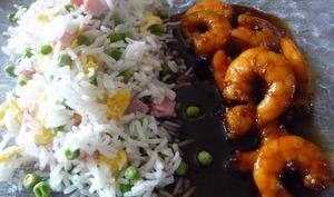 Crevettes caramélisées à l'asiatique