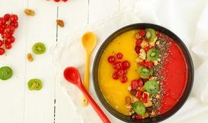 Smoothie bowl mangue framboise bicolore