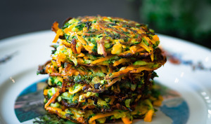 Galettes de légumes et chou kale façon grumbeerekiechele