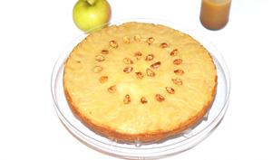Gâteau renversé à la citrouille et aux pommes