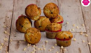 Muffins aux pépites de chocolat noirs et blancs