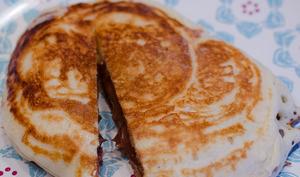 Pancake fourré au chocolat au lait