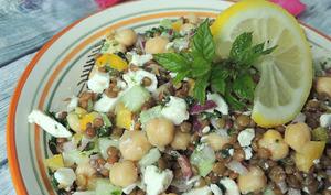 Salade de pois chiche et lentilles