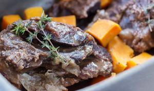 Joues de bœuf braisées aux coings et patates douces