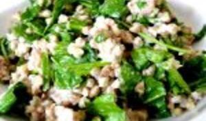 Sarrasin aux épinards crus