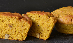 Muffins courge butternut et noix