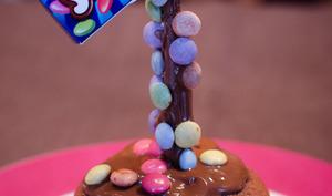 Gravity cupcakes aux Smarties