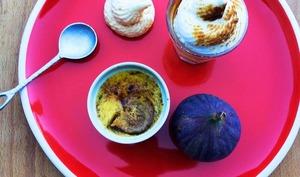 Crème brûlée à la figue et meringuée