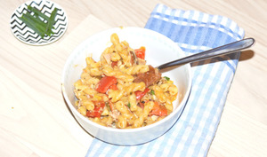One Pot Pasta – tomates, poivron et thon