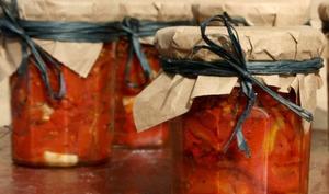 Conserves de tomates confites