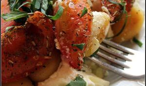 Gnocchi poêlés aux tomates rôties et ricotta au basilic