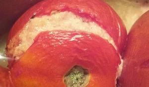 Tomates farcies au chèvre et à la coppa