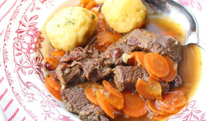 Joue de boeuf aux carottes et au rhum