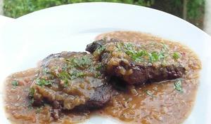 Hampe de Boeuf à la Sauce Bercy