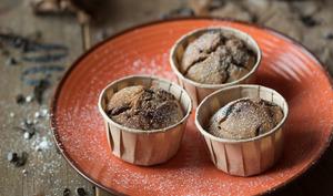Muffins vegan banane choco noisette