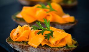Toasts anti-gaspi carottes bio d'Alsace à l'orientale
