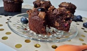 Muffins chocolat - myrtilles