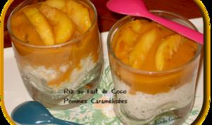 Riz au lait de coco et pommes caramélisées