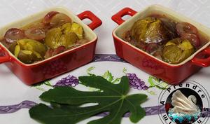 Raisins et figues rôties à l'Amaretto