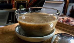 'tite soupe de champignons au miso blanc