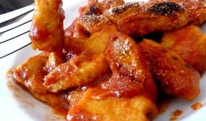 Gnocchis de carotte sauce tomate ortie anis thym