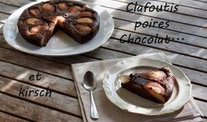 Clafoutis poires chocolat kirsch