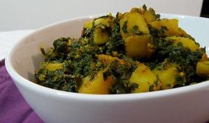 Curry pommes de terre épinards