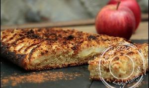 Tarte brioche crumble aux pommes