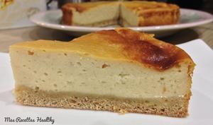 Gateau au fromage blanc vanillé
