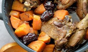 Canard aux patates douces et jujubes