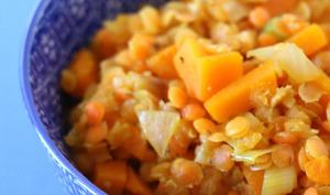 Lentilles corail façon risotto