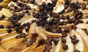 Tarte Poire chocolat express