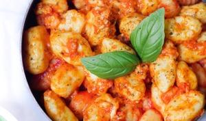 Gnocchis maison sauce tomate et chèvre