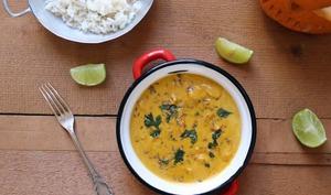 Curry de potiron au lait de coco