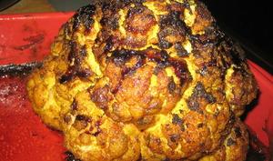 Chou-fleur aux épices rôti au four