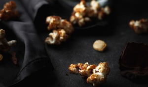 Pop corn au caramel de potimarron