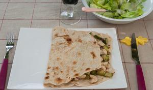 Tortilla poulet courgettes