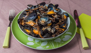 Moules aux girolles