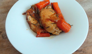 Rôti de porc à la cocotte aux carottes fondantes