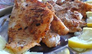 Filets de daurade en croute d'origan, thym et fenouil