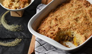 Crumble salé butternut-marrons