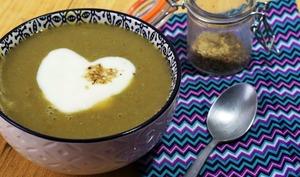 Soupe potiron champignons lentilles