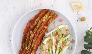 Saumon Gravlax aux pistaches