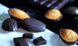 Madeleines citrouille et chocolat d'Halloween