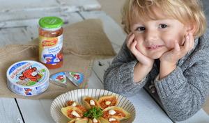 Conchiglioni farcis aux courgettes, jambon et sauce tomate à La vache qui rit