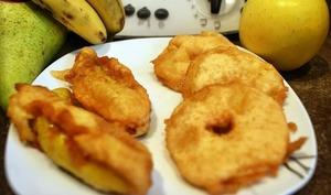 Beignet aux pommes et beignets aux bananes thermomix