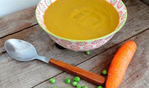 Soupe de petits pois et carottes