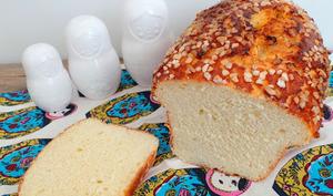 Gros pain au lait façon brioche à la fleur d'oranger