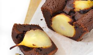 Moelleux poires & chocolat, aux épices